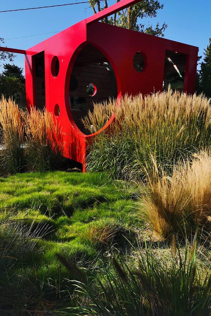 Paysagiste Aménagement Jardin Rouge Moderne Avignon Châteaurenard Saint Remy Provence